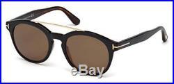 Tom Ford 0515 05H Black Dark Havana Newman Round Sunglasses Polarised Lens Cate