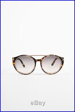 Tom Ford $405 Brown GHW Havana Tortoiseshell Joan Sunglasses