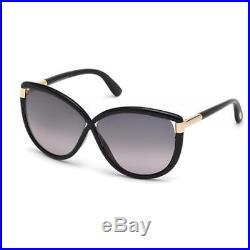 Tom Ford 6556 Womens Abbey Black Gradient Oversized Cat Eye Sunglasses BHFO