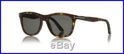 Tom Ford ANDREW TF500 52N Dark Havana Sunglasses Green Lens Size 54