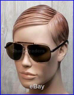 Tom Ford Adrian Aviator Sunglasses Gold Havana Torte Roviex Brown Ft 0243 28j