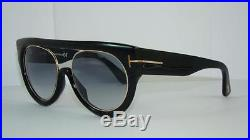 Tom Ford Alana FT 360 01B BLACK Sunglasses Grey Gradient Lenses Size 55