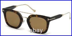 Tom Ford Alex-02 FT0541 52E Dark Havana / Gold Sunglasses Sonnenbrille Size 51