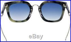 Tom Ford Alex-02 TF 541 56X Black Grey Marble Blue Lens Flash Mirror Sunglasses