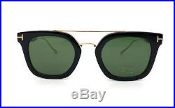 Tom Ford Alex-02 TF0541 05N Shiny Black / Green 51mm Sunglasses