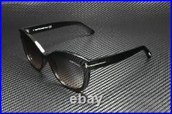 Tom Ford Alistair FT0524 01B Shiny Black Gradient Smoke 56 mm Women's Sunglasses