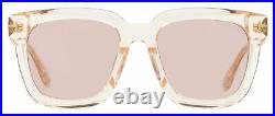 Tom Ford Alternative Fit Sunglasses TF690F Sari 72Z Transparent Rose 53mm FT0690