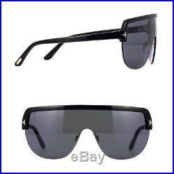 35cd857f80 Tom Ford Angus-02 FT560 TF 560 01A Men Women Black Grey Shield Sunglasses  Case