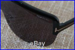 Tom Ford Angus Tf560 Sunglasses Black & Gold Made In Italy Oversize Classics Nm