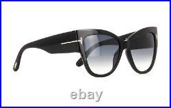 Tom Ford Anoushka FT0371 01B Sunglasses Black Frame Gray Gradient Lenses 57mm