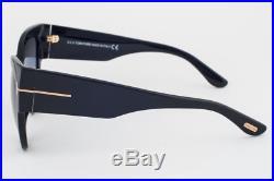 Tom Ford Anoushka Shiny Black/ Gray Gradient Sunglasses TF371-F 01B Asian Fit