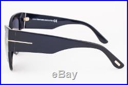 Tom Ford Anoushka TF371 01Z Sunglasses Black Frame Flash Multicolor Mirror 57mm