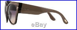 Tom Ford Anoushka TF371 38B Sunglasses Striped Bronze Frame Gray Peach 57mm