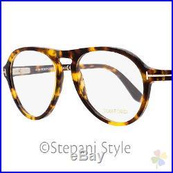 7afa162a4a1 Tom Ford Aviator Eyeglasses TF5413 052 Size 53mm Vintage Havana Gold FT5413