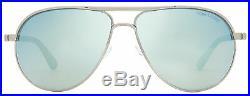 Tom Ford Aviator Sunglasses TF144 Marko 14X Ruthenium/Black 58mm FT0144