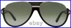 Tom Ford Aviator Sunglasses TF334 Dimitry 01P Shiny Black/Gold 59mm FT0334