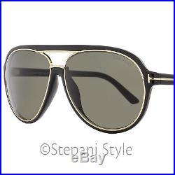 70c2d079e9a57 Tom Ford Aviator Sunglasses TF379 Sergio 01A Shiny Black Gold FT0379