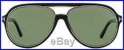 Tom Ford Aviator Sunglasses TF379 Sergio Polarized 02R Ruthenium/Matte Black