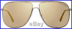 Tom Ford Aviator Sunglasses TF451 Dominic 09C Matte Gunmetal/Black FT0451