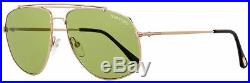 Tom Ford Aviator Sunglasses TF496 Georges 28N Gold/Black 59mm FT0496