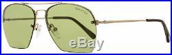 Tom Ford Aviator Sunglasses TF505 Whelan 28N Gold/Green Horn FT0505