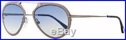 Tom Ford Aviator Sunglasses TF508 Dashel 12W Dark Ruthenium/Blue 53mm FT0508