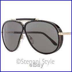 Tom Ford Aviator Sunglasses TF509 Cedric 01A Black/Gold FT0509