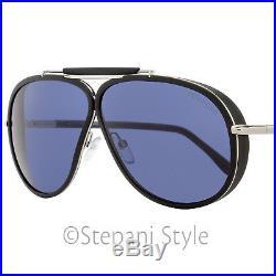 Tom Ford Aviator Sunglasses TF509 Cedric 02V Black/Palladium FT0509