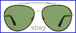 Tom Ford Aviator Sunglasses TF748F Curtis 52N Gold/Darl Havana 62mm FT0748