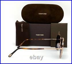 Tom Ford BENTON FT0693 28V Rose Gold / Blue 58mm Sunglasses TF0693
