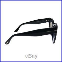 Tom Ford Beatrix-02 TF 613 01C Black Plastic Sunglasses Grey Gradient Lens