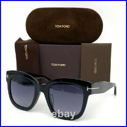Tom Ford Beatrix FT0613 01C Shiny Black / Smoke Mirror 52mm Sunglasses TF0613