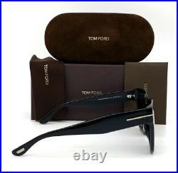 Tom Ford Beatrix FT0613F 01C Shiny Black / Smoke Mirror 52mm Sunglasses TF0613