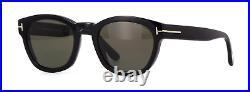 Tom Ford Bryan-02 FT0590 01D Sunglasses Black Frame Smoke Polarized Lenses 51mm