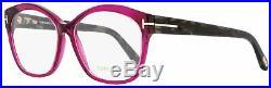 Tom Ford Butterfly Eyeglasses TF5435 075 Fuchsia/Dark Havana 57mm FT5435