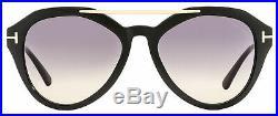 Tom Ford Butterfly Sunglasses TF576 Lisa-02 01B Black/Gold 54mm FT0576