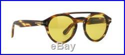 Tom Ford CLINT TF537 48E Dark Tortoise Sunglasses Sonnenbrille Yellow Lens 57mm