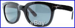 Tom Ford Campbell TF198 01A Black Shiny Square Unisex Sunglasses