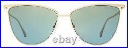 Tom Ford Cat Eye Sunglasses TF684 Veronica 28W Gold 58mm FT0684