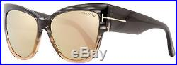 Tom Ford Cateye Sunglasses TF371 Anoushka 20G Gray Melange/Peach 57mm FT0371