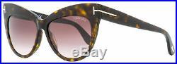 Tom Ford Cateye Sunglasses TF523 Nika 52F Dark Havana 56mm FT0523