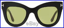 Tom Ford Cateye Sunglasses TF612 Karina-02 01N Black 47mm FT0612