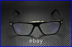 Tom Ford Cecilio-02 FT0628 001 Shiny Black Blue Block 57 mm Men's Sunglasses