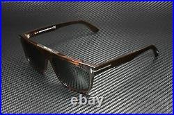 Tom Ford Cecilio-02 FT0628 52N Shiny Dark Havana Green 57 mm Men's Sunglasses