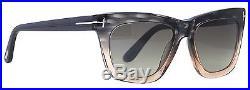Tom Ford Celina TF361 20D Grey/Peach Square Women's Polarized Sunglasses