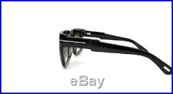 Tom Ford Christian TF0729 05B Shiny Black / Smoke 53mm Sunglasses FT0729