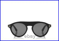 Tom Ford Christopher-02 Tf633 001 Black Unisex Sunglasses Made In Italy