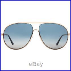 Tom Ford Cliff TF450 28P Gold Havana Blue Gradient Aviator Sunglasses