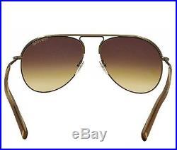 Tom Ford Cody FT0448 33F Men Antique Gold & Brown Metal Aviator Sunglasses 56mm
