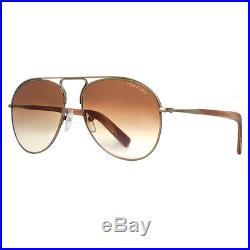 Tom Ford Cody TF448 33F Dark Gold/Brown Gradient Women's Aviator Sunglasses